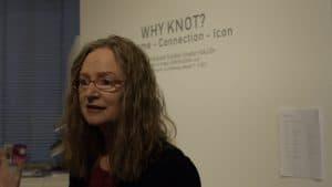 """Sabine Schäfer, Gallery GEDOK Karlsruhe, 13.01.-11.02.2018, Exhibition """"Why Knot?"""", Videostill: Lehel Lajos"""