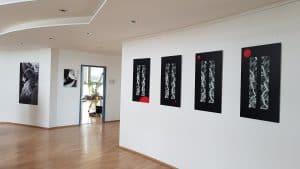 Galerie GEDOK Karlsruhe, 13.01.-11.02.2018 WHY KNOT? Ausstellung Sabine Schäfer Foto: A.Hünnekens
