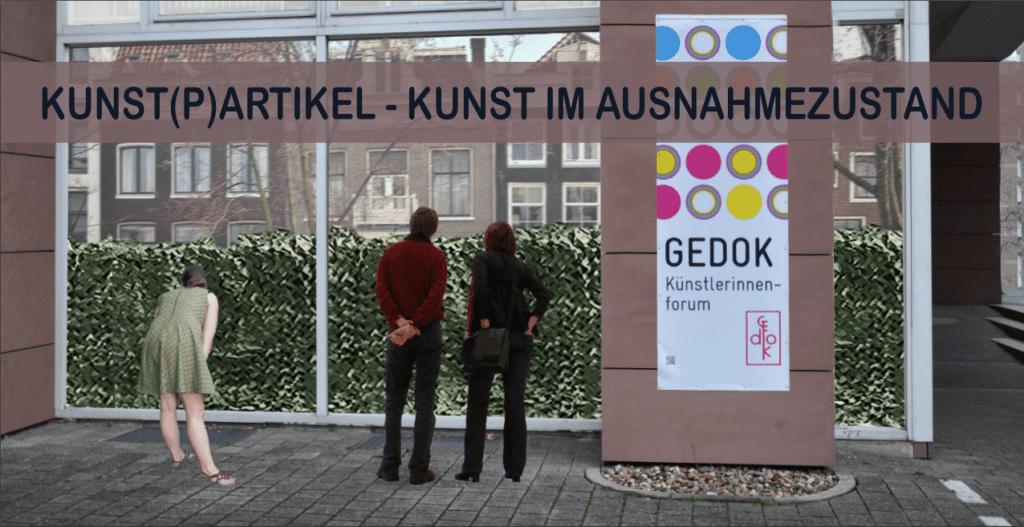 KUNST(P)ARTIKEL, GEDOK Karlsruhe, Foto: Einladungskarte, Sabine Schäfer