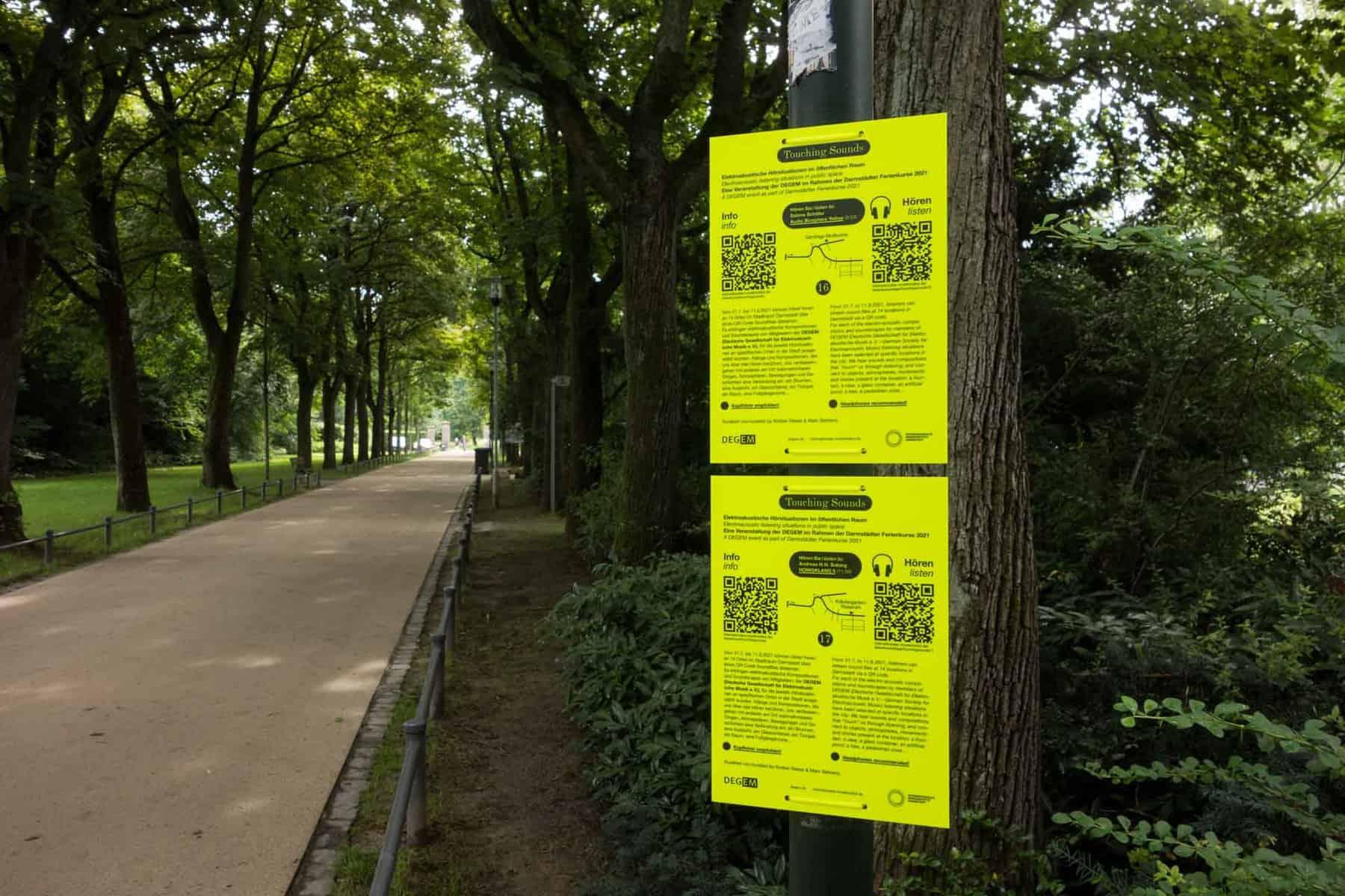Touching Sounds, Hörsituationen im öffentlichen Raum, Darmstadt, 31.07.-11.08.2021, Foto: Marc Behrens